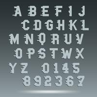Modelo de alfabeto de fonte vetor