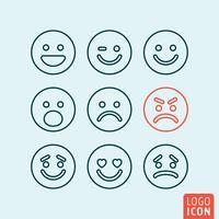 Conjunto de ícones de emoticons