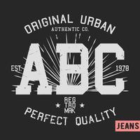 Selo vintage ABC vetor