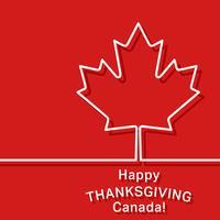 Cartão de ação de Graças do Canadá vetor