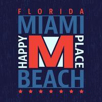 Selo vintage de Miami vetor