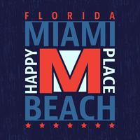 Selo vintage de Miami