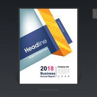 Brochura de negócios colorido geométrico, design da capa, panfleto - ilustração vetorial vetor