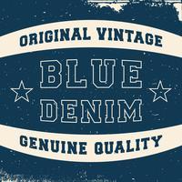 Rótulo vintage denim
