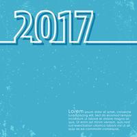 Cartão de ano novo 2017 vetor