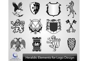 Elementos vetoriais heráldicos para design de logotipos vetor