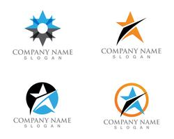 Star logo and symbols template vector design de ilustração de ícone
