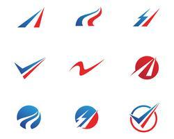 Finanças logotipo e símbolos vetoriais conceito ilustração .. vetor