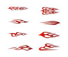gráfico tribal do veículo, projeto gráfico do envoltório do veículo da chama vetor