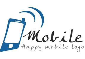 Logotipo feliz do celular