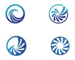logotipo de círculo de vórtice e ícones de modelo de símbolos