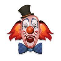 Cara de palhaço de circo vetor