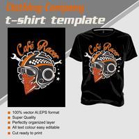 camiseta camisa modelo café racer .isolated e fácil de editar. Ilustração vetorial - vetor