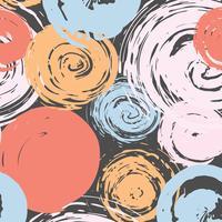 Fundo de traçado de pincel padrão abstrato. Ilustração vetorial
