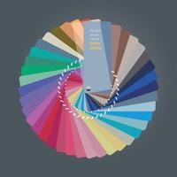 Ilustração do guia de paleta de cores para designer de interiores vetor