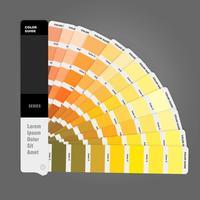Ilustração do guia de paleta de cores para impressão, livro guia para designer, fotógrafo e artistas vetor