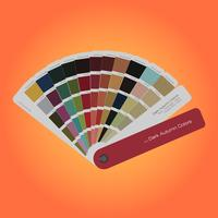 Guia de paleta de cores outono para impressão, livro guia para designer, fotógrafo e artistas vetor