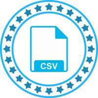 Ícone de vetor CSV