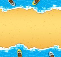 Vista aérea, de, praia vetor