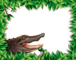 crocodilo na cena da natureza vetor