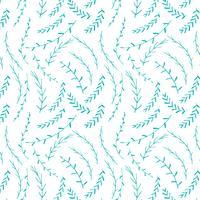 Entregue o fundo botânico tirado do teste padrão, teste padrão decorativo floral, ilustração do vetor. vetor