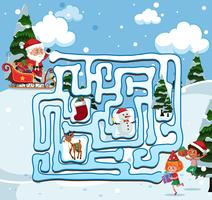 Papai Noel encontra o caminho vetor