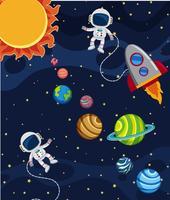 Uma cena do sistema solar vetor