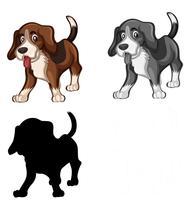 Jogo, de, beagle, cão vetor