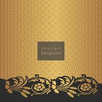 Resumo padrão dourado com elementos florais vintage dourados vetor