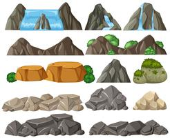 Conjunto de pedra diferente vetor