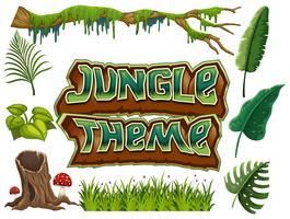 Conjunto de tema de selva
