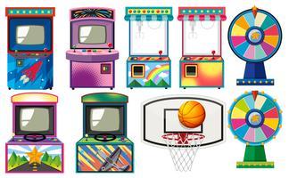 Conjunto de jogos de arcade vetor