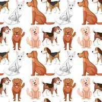 Padrão sem emenda de cão de variedade vetor