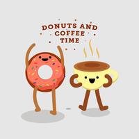 Donuts e vetor de café