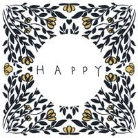 ilustração abstrata mandala de textura vector feliz