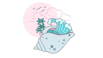 Vetor de concha do mar