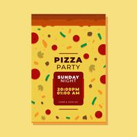 Vetor de folheto de pizza