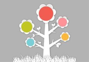 Vetor 3d abstrato da árvore da flor