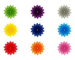 Sinal de flor para o bem-estar, Spa e Yoga. Ilustração vetorial vetor