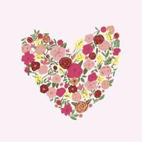 fundo de vetor floral mão desenhada