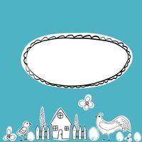 Personagem de desenho animado feliz galinha em poses diferentes isolado. Galinha e galo vector plana ilustração. Conjunto colorido bonito e engraçado