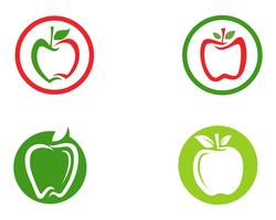 Logotipo da Apple e símbolos vetoriais ícones de ilustração app .. vetor