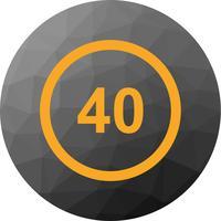 Ícone de limite de velocidade de vetor 40