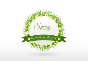 Adeus Inverno Primavera Banner Vector