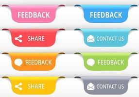 Vetores de botão de guia de feedback