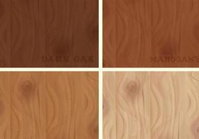 Vetor de texturas de madeira