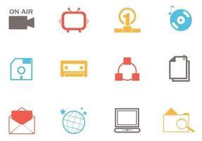 Pacote De Vetor De ícones Simples Web