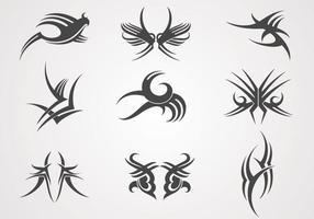 Desenhos de tatuagem Vector Pack