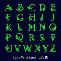 natureza de folha letra az, vetor de modelo de logotipo verde eco isolado