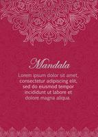 Saudação, modelo de cartão de convite com ornamento oriental abstrato. vetor